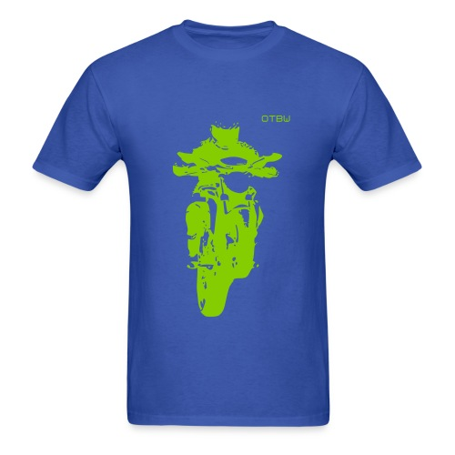 OTBW - male t-shirt - green logo - Men's T-Shirt