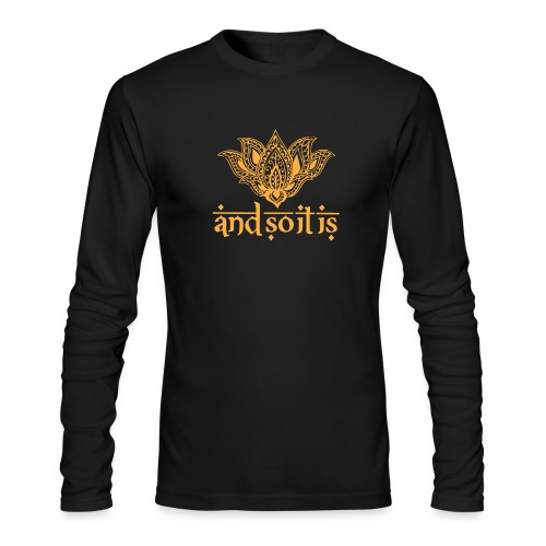 And So It Is Henna Long Sleeve Tee - Men's Long Sleeve T-Shirt by Next Level