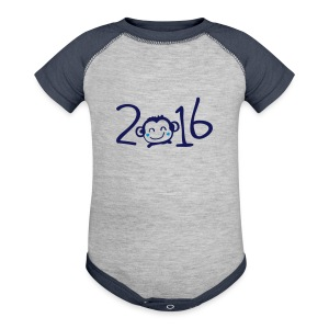 2016 year of monkey cute Baby Contrast One Piece - Baby Contrast One Piece