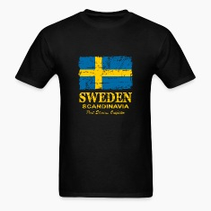 Sweden Flag - Vintage Look T-Shirts
