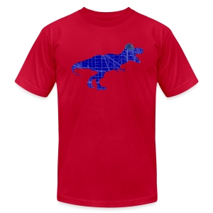 North Side T-Rex - Men's T-Shirt by American Apparel
