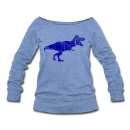 Long Sleeve Shirts ~ Women's Wideneck Sweatshirt ~ North Side T-Rex