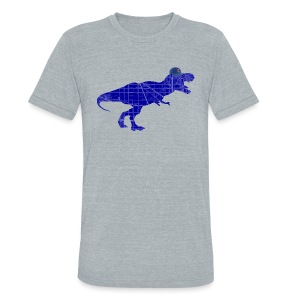 North Side T-Rex - Unisex Tri-Blend T-Shirt by American Apparel