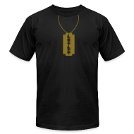 T-Shirts ~ Men's T-Shirt by American Apparel ~ Hip-hop necklace