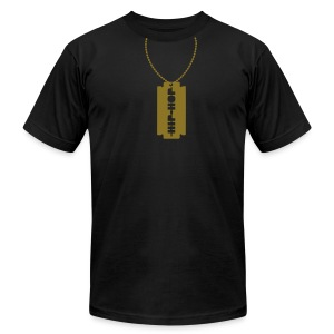Hip-hop necklace - Men's T-Shirt by American Apparel