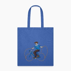 Cowboy Riding Bike With Lasso Wheels Bags & backpacks