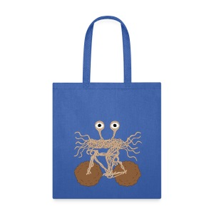 Flying Spaghetti Monster On Bike/ Meatball Wheels Tote - Tote Bag