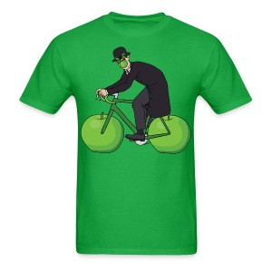 Son Of Man Riding Bike With Apple Wheels T shirt - Men's T-Shirt
