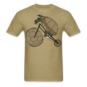Tortoise Riding Bike With Tortoise Shell Wheel T shirt - Men's T-Shirt