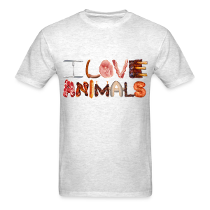 I LOVE ANIMALS - Men's T-Shirt
