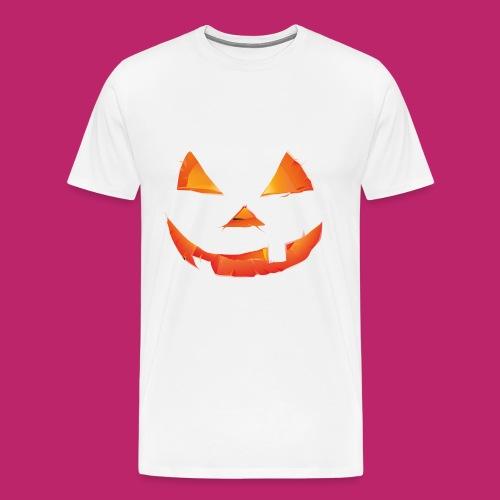 Scary Pumpkin Design For T-Shirt - Men's Premium T-Shirt