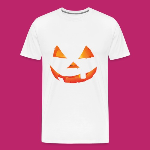 Scary Pumpkin Design For T-Shirt - Men's Premium T-Shirt