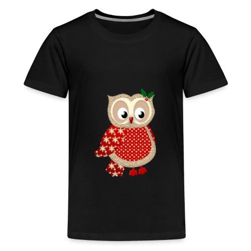 Christmas Owl - Kids' Premium T-Shirt