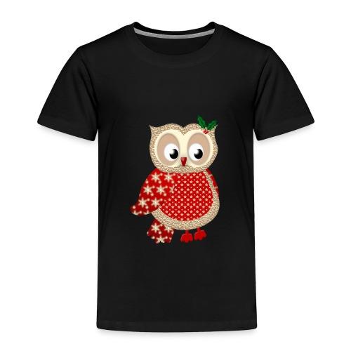 Christmas Owl - Toddler Premium T-Shirt