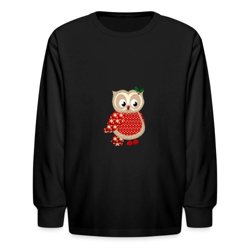 Christmas Owl - Kids' Long Sleeve T-Shirt