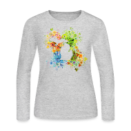 Long Sleeve Shirts ~ Women's Long Sleeve Jersey T-Shirt ~ 4 Season State