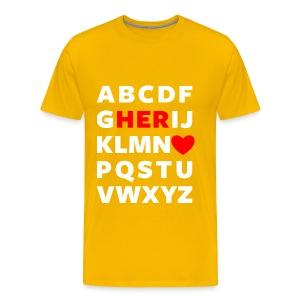 Love Her Couple Tee - Men's Premium T-Shirt