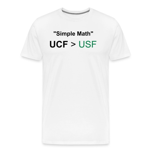 New Slim Fit Simple Math Rivalry Tee! - Men's Premium T-Shirt