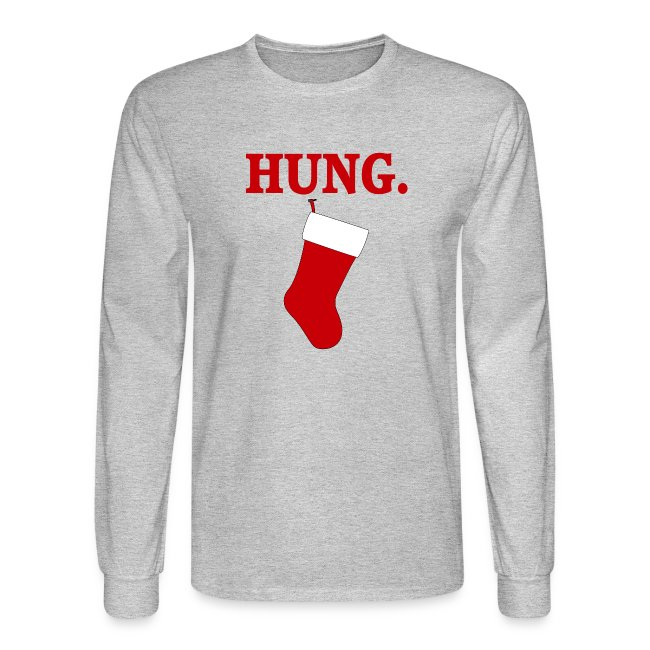 66ea69db LaughingShirtsAndGifts | HUNG Funny Mens Christmas T-shirt - Mens ...