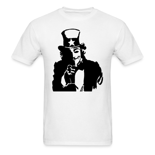 Uncle Sam with a smile - Men's T-Shirt