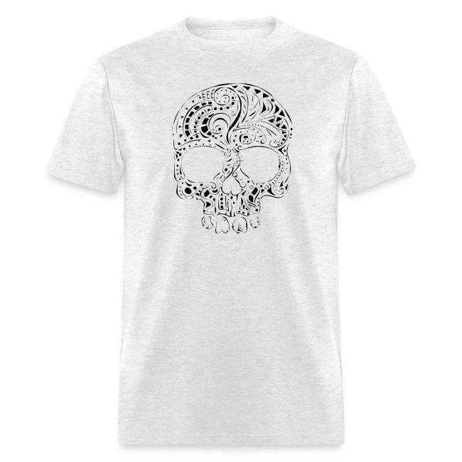 17ccc4d27da9 Orriart   Tribal tattoo style gothic skull Mens T-Shirt - Mens T-Shirt