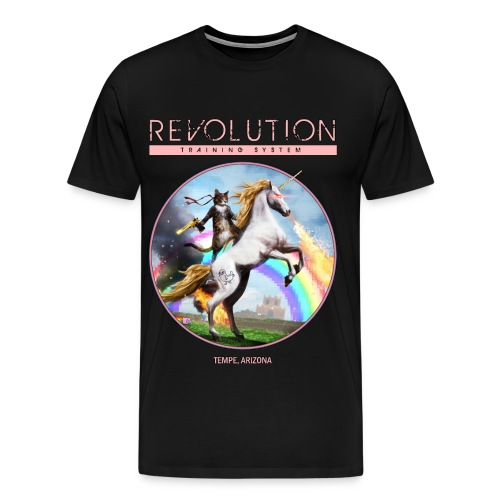 Cat On A Unicorn  - Men's Premium T-Shirt