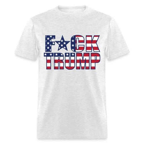 Men's F*CK TRUMP Patriotic American Flag - Men's T-Shirt