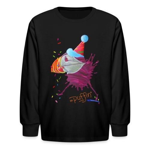 MR. PUFFIN - front print - xs/l kids - multi colors - Kids' Long Sleeve T-Shirt