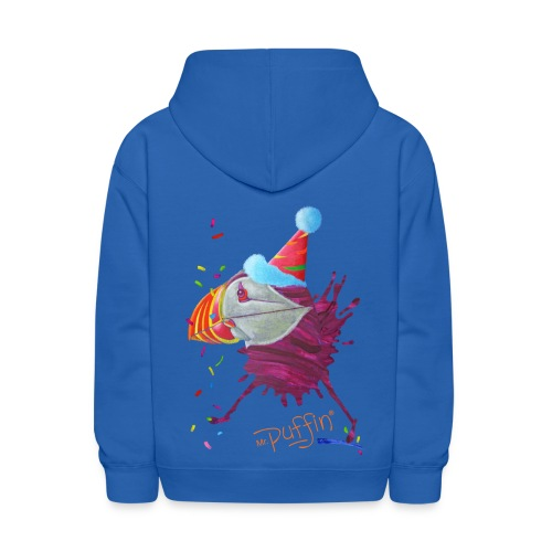 MR. PUFFIN - back+front - s/l kids - multi colors - Kids' Hoodie