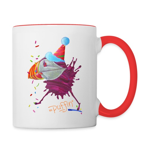 MR. PUFFIN - single sided print - Contrast Coffee Mug