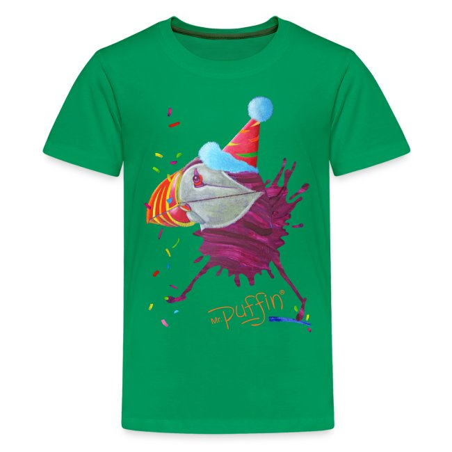 MR. PUFFIN - front print - xs/l kids - multi colors