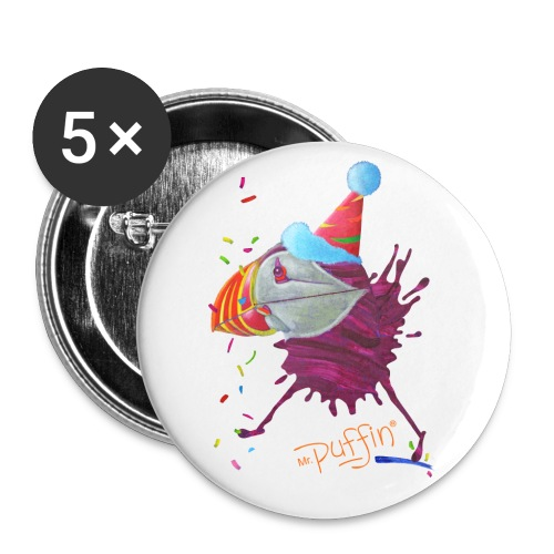 MR. PUFFIN - 56 mm (2,25) - Buttons large 2.2'' (5-pack)