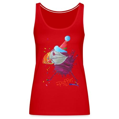 MR. PUFFIN - front print - s/3xl - multi colors - Women's Premium Tank Top