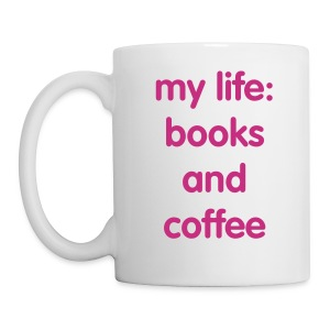 Books and Coffee Mug - Coffee/Tea Mug