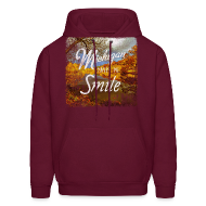 Hoodies ~ Men's Hoodie ~ Michigan Makes Me Smile