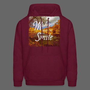 Michigan Makes Me Smile - Men's Hoodie