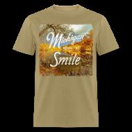 T-Shirts ~ Men's T-Shirt ~ Michigan Makes Me Smile
