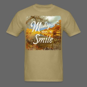 Michigan Makes Me Smile - Men's T-Shirt