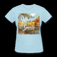 Women's T-Shirts ~ Women's T-Shirt ~ Michigan Makes Me Smile