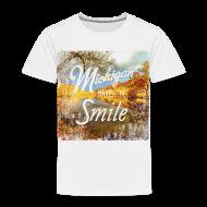 Baby & Toddler Shirts ~ Toddler Premium T-Shirt ~ Michigan Makes Me Smile