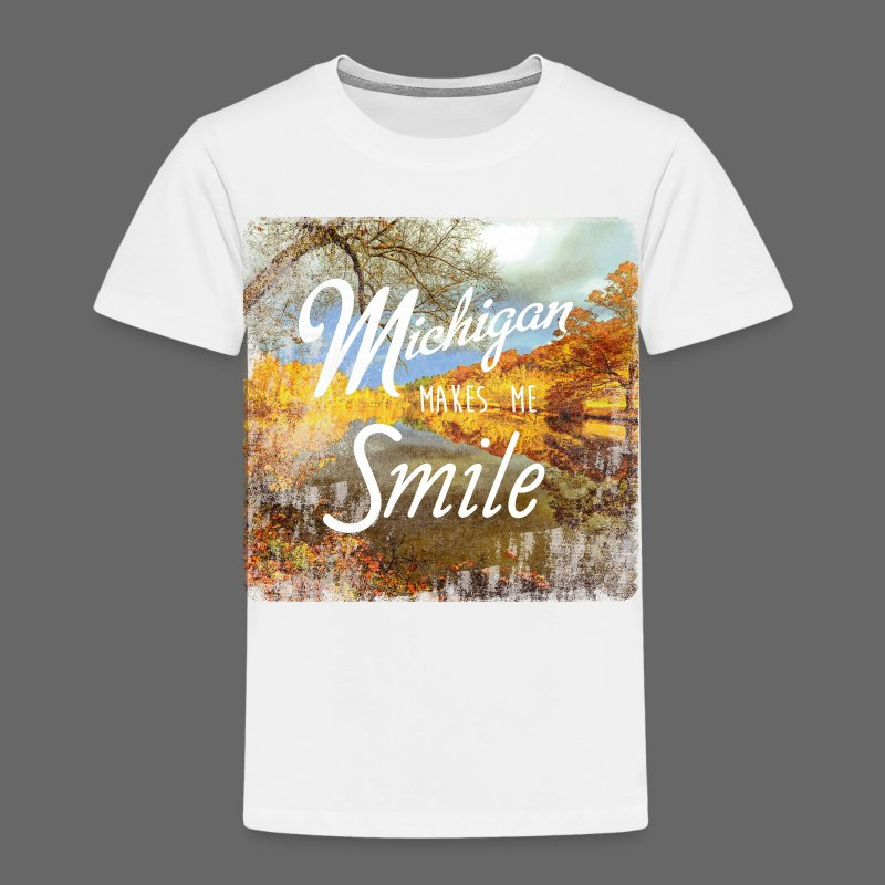 Michigan Makes Me Smile - Toddler Premium T-Shirt