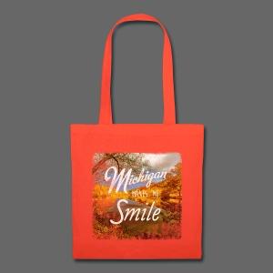 Michigan Makes Me Smile - Tote Bag