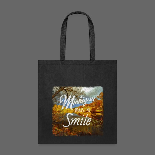 Michigan Makes Me Smile - Tote Bag
