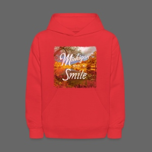 Michigan Makes Me Smile - Kids' Hoodie
