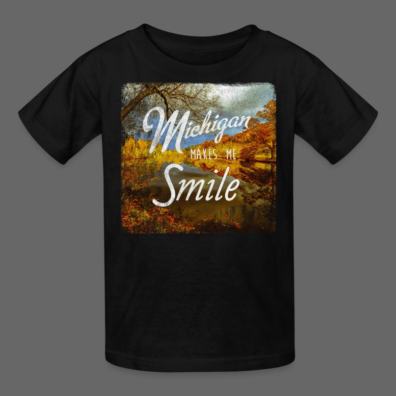 Michigan Makes Me Smile - Kids' T-Shirt