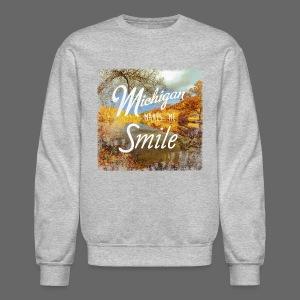 Michigan Makes Me Smile - Crewneck Sweatshirt