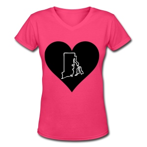 Love Rhode Island - Women's V-Neck T-Shirt