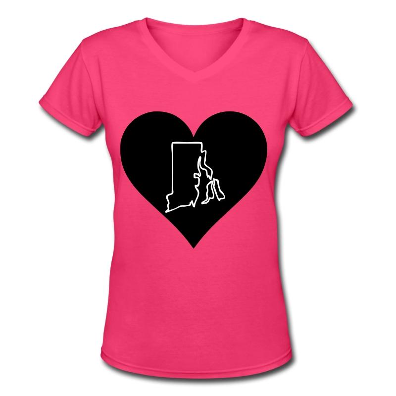 Love Rhode Island - Women's V-Neck T-Shirt
