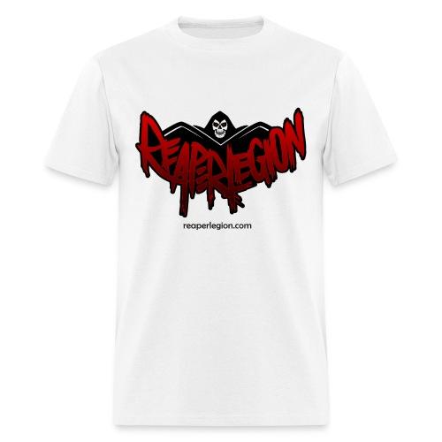 Reaper Logo White Tee Basic - Men's T-Shirt