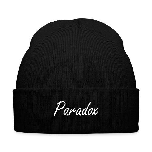Paradox Stocking Cap  - Knit Cap with Cuff Print